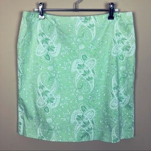 Preppy Lime Green White Paisley Jones NY
